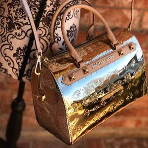 Michael kors KARA large duffle bag pale gold